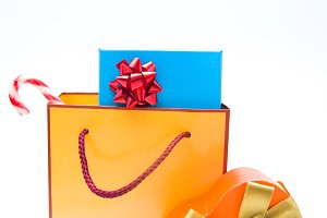 Christmas gifts in a bag