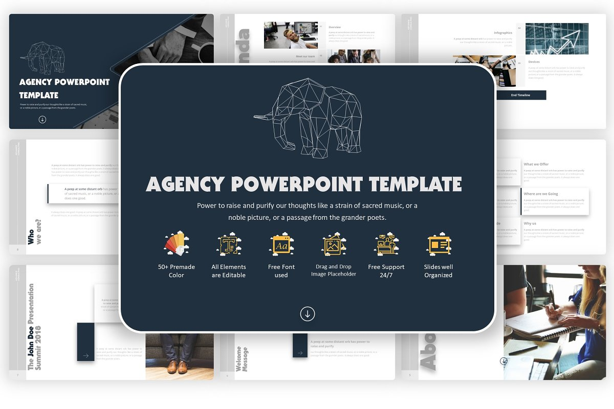 Pptx Agency Powerpoint Template Powerpoint Templates