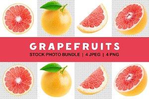 Isolated grapefruit set