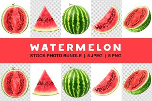 Isolated watermelon collection