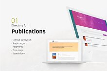 Hilbert - Academic WordPress Theme by  in Non-Profit