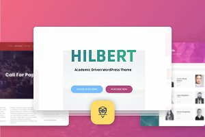 Hilbert - Academic WordPress Theme