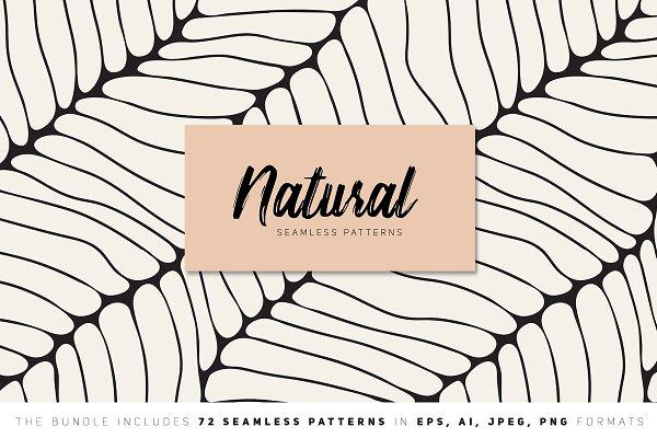 Graphic Patterns - Natural Seamless Patterns Bundle