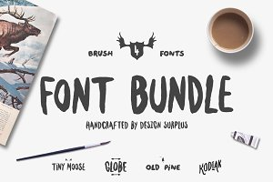 Brush Font Bundle (50% OFF)