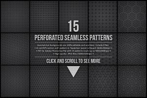 15 Seamless Perforated Patterns