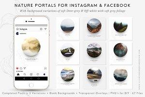 Nature Portals for Instagram & FB