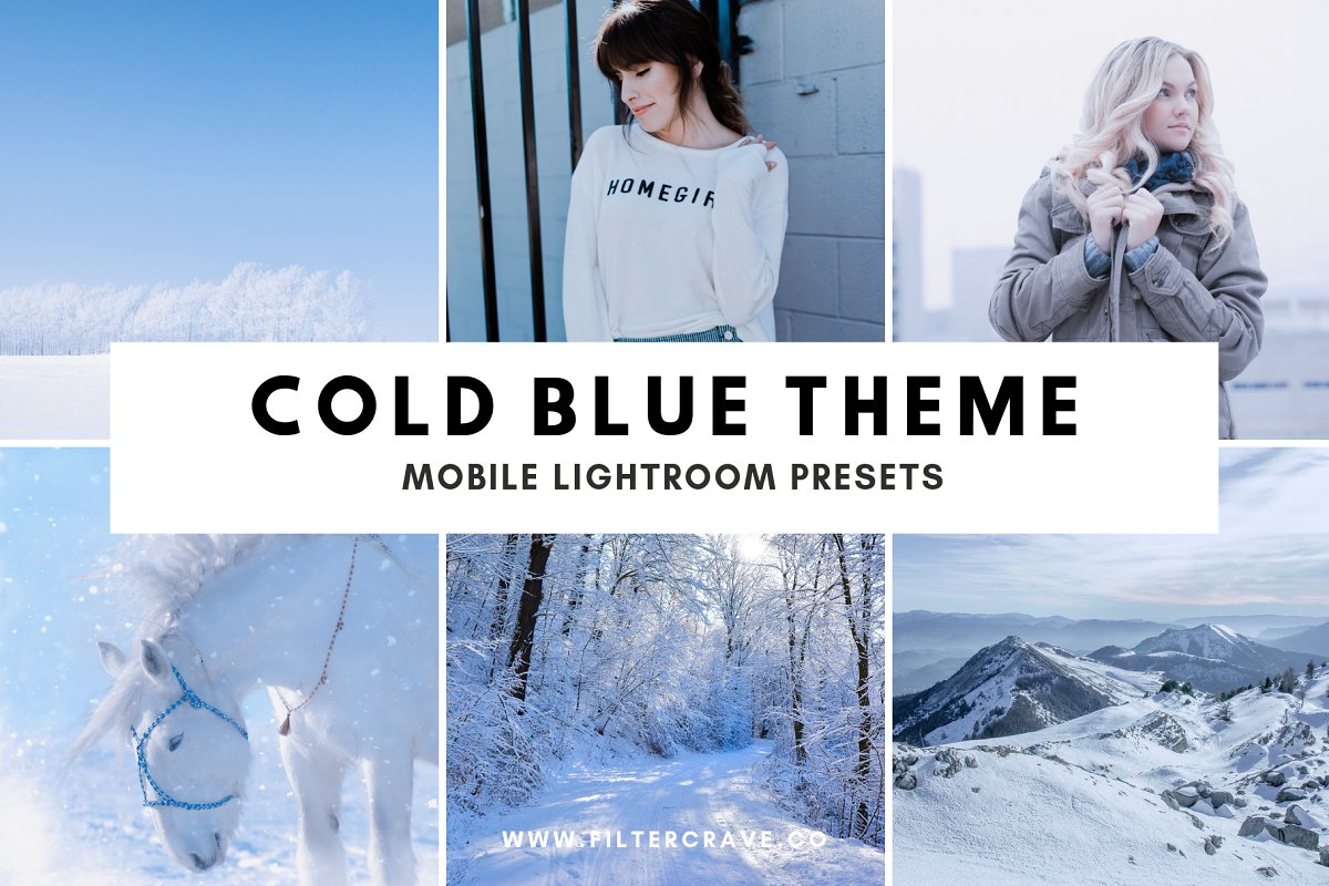 Cold Blue Lightroom Presets Theme ~ Lightroom Presets ~ Creative Market