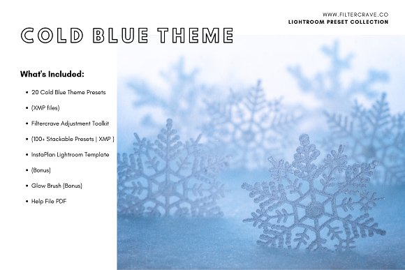 Cold Blue Lightroom Presets Theme