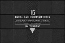 15 Natural Dark Seamless Textures