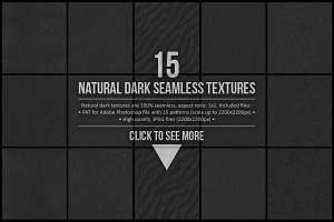 15 Natural Dark Seamless Textures