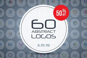 60 abstract logos - super bundle