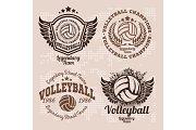 Set Badges logos volleyball teams
