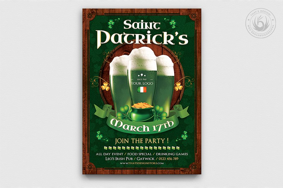 Saint Patricks Day Flyer Template V8