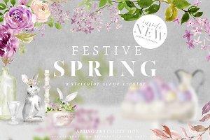 Festive Spring Scene Creator