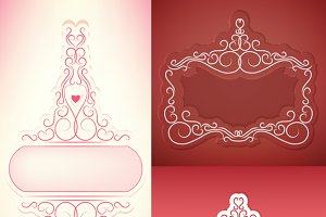 set of elegant rich ornate frame