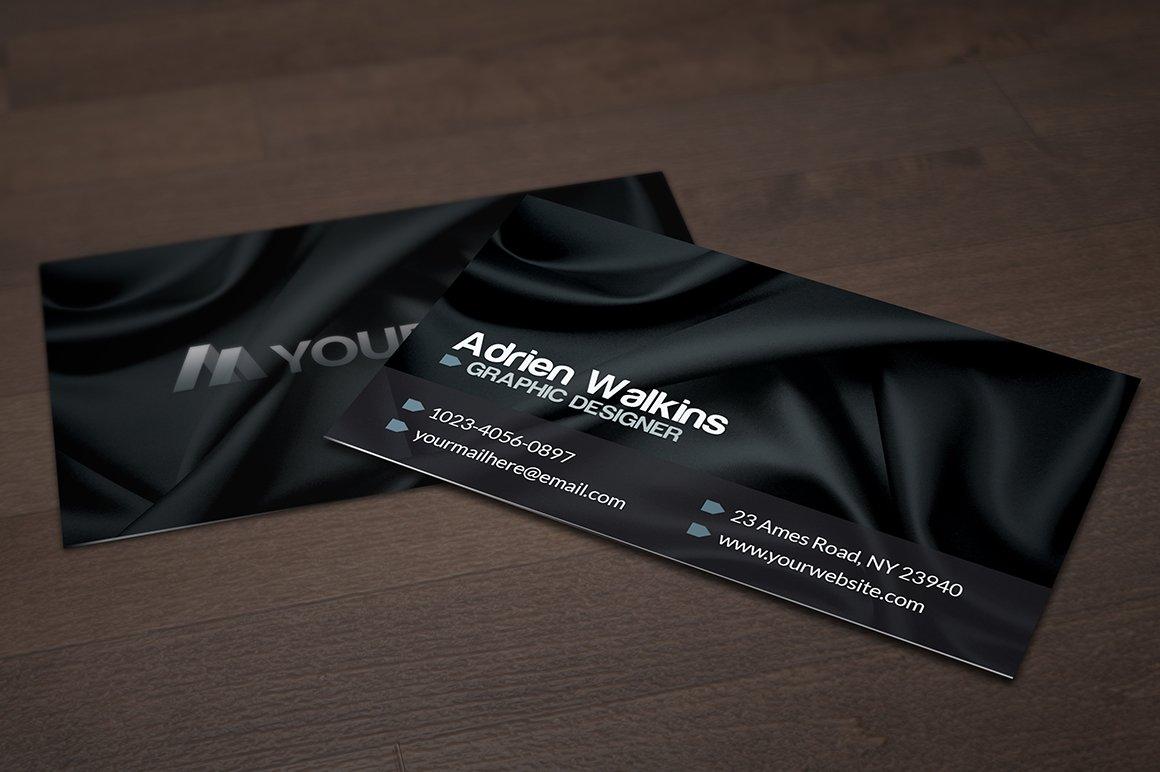 Dark silk business card business card templates creative market magicingreecefo Gallery