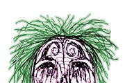 Creepy Zombie Head Illustration