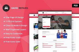 David Repairs PSD Website Template