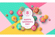 Womens Day eight shaped frame