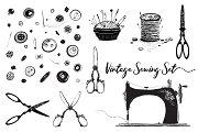Sewing Hobby Vintage Set