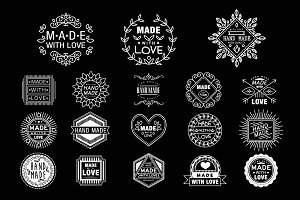 Hand Made Retro Design Logotypes