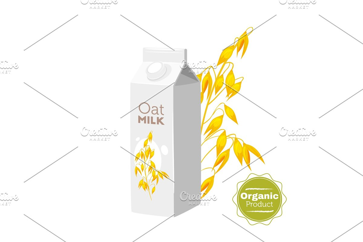 milk icon on white background in Illustrations - product preview 8