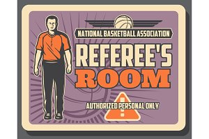 Basketball referee, sport game
