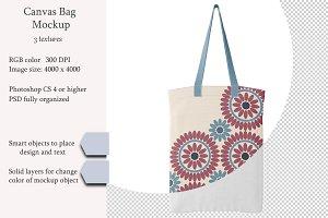 Canvas bag. PSD object mockup.
