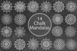 Chalk Mandalas