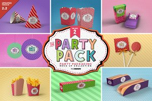 Vol.2 Party Packaging MockUps