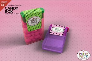Candy Container Packaging Mockup
