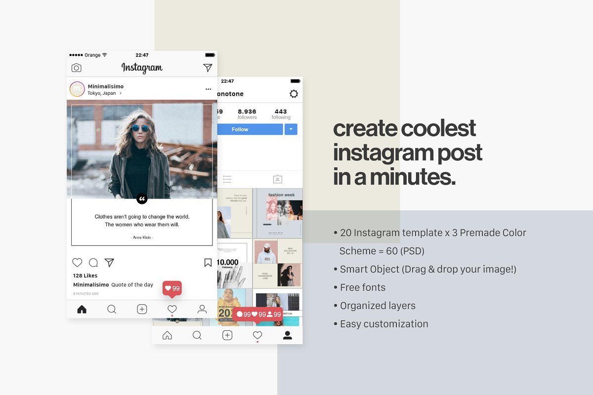 Minimalism - Instagram Pack ~ Instagram Templates ~ Creative Market