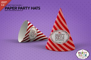 Paper Party Hat Mockup