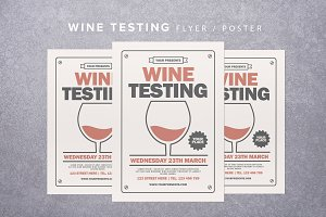 Wine Testing Flyer