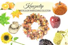 Watercolor Thanksgiving Collection