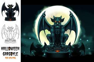Halloween Gargoyle Illustration