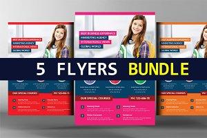 5 School Education Flyers Bundle