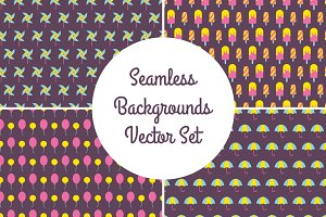 Seamless backgrounds vector set