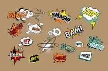 Comics Text, Pop Art style
