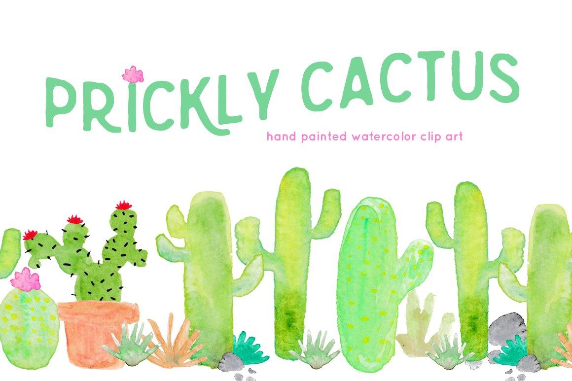 Cactus Watercolor Clip Art Illustrations Creative Market