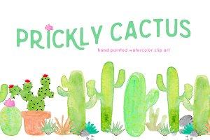 Cactus Watercolor Clip Art