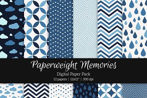 Patterned Paper - Midnight Blues