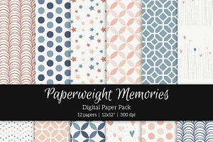 Patterned Paper - Midnight Blush