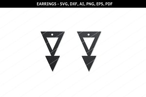 Geometric earrings svg,cricut files