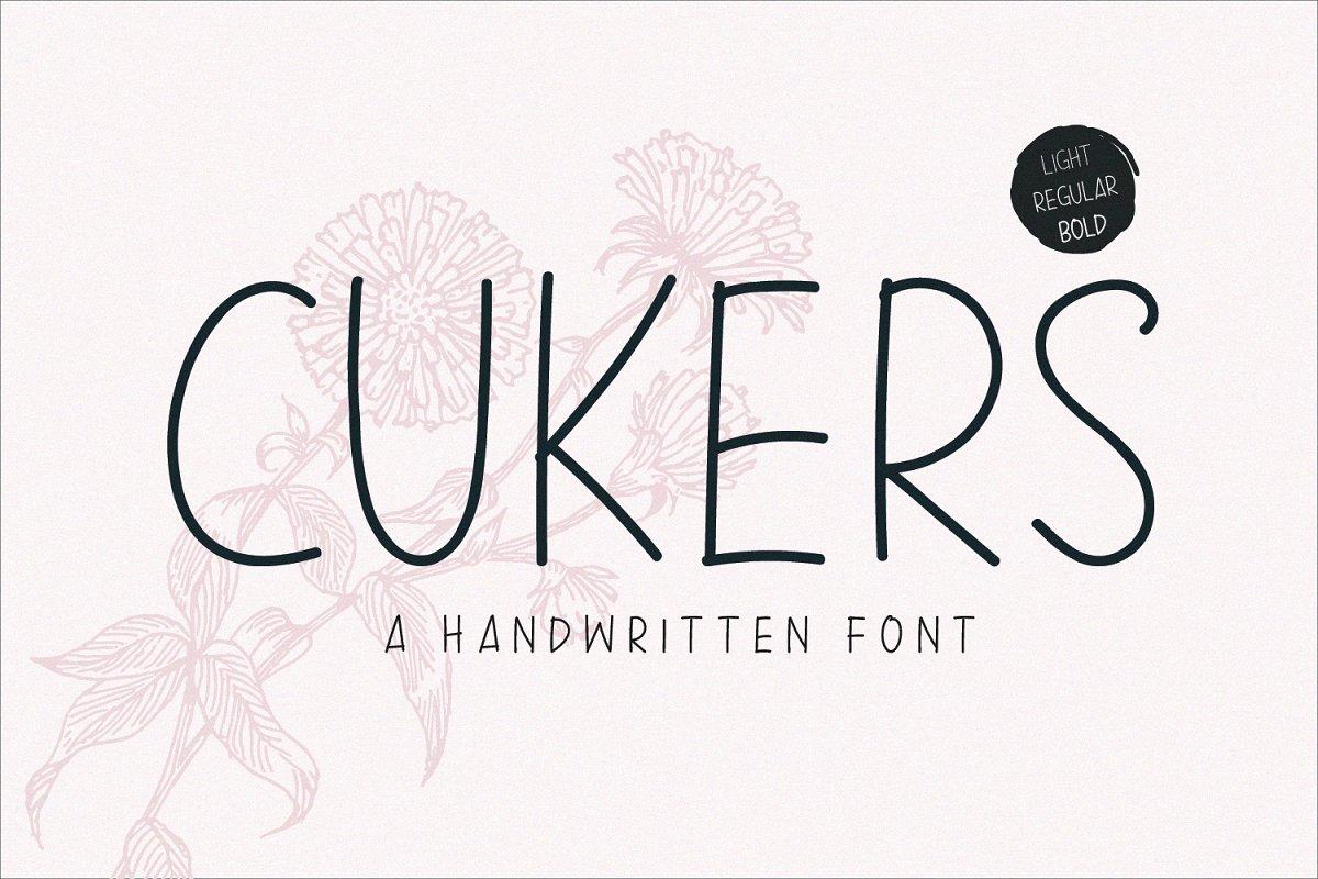 Cukers - A Handwritten Font