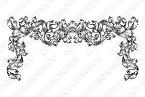 Border Pattern Scroll Leaf Baroque