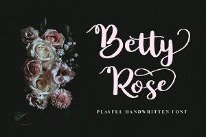Betty Rose - Handwritten Font