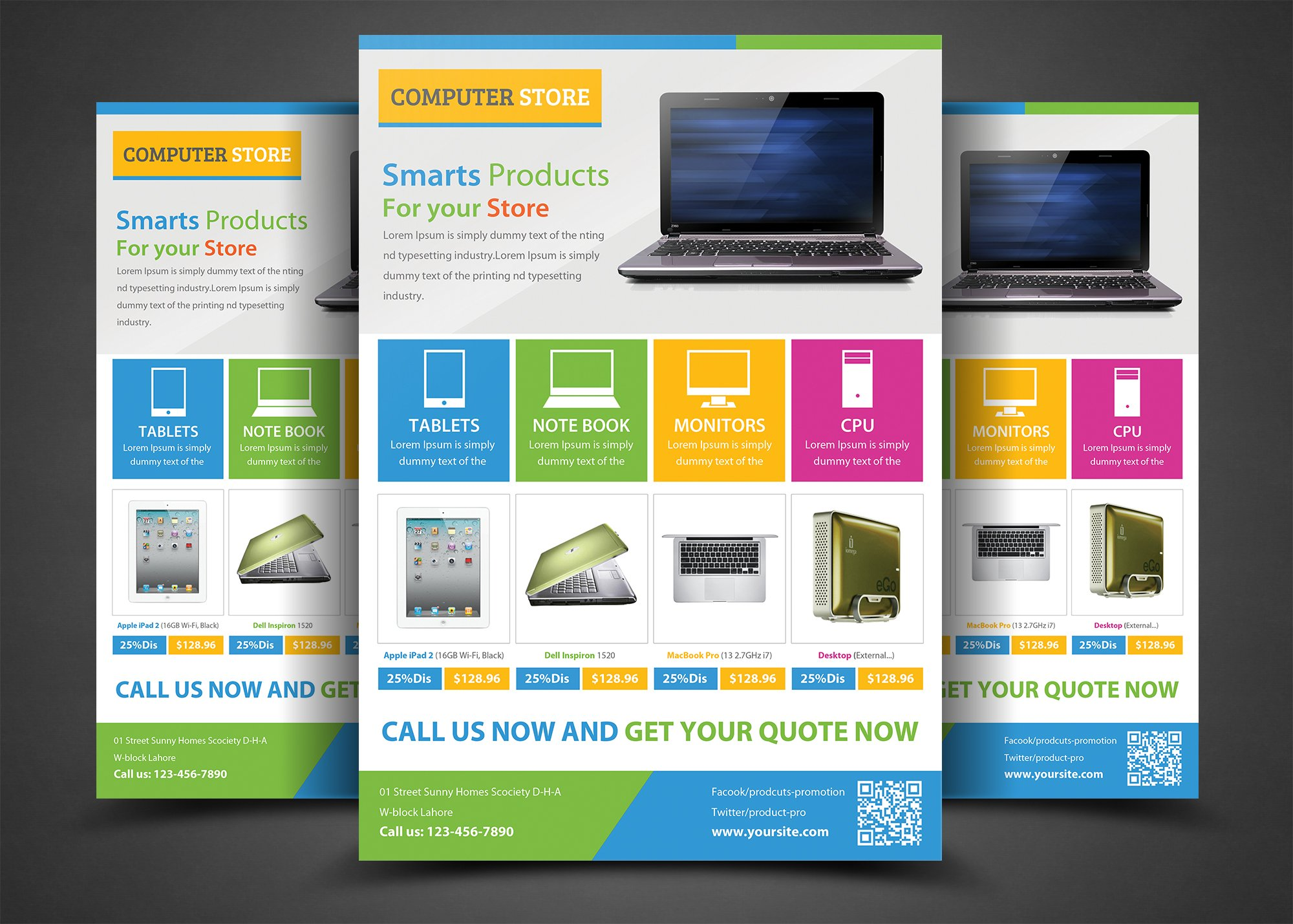 Product promotion flyer templates flyer templates for Product brochure template word
