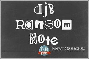DJB Ransom Note Font