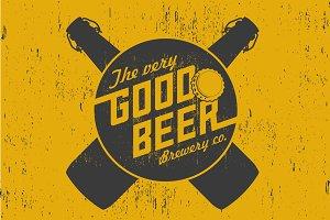 Vector beer poster.